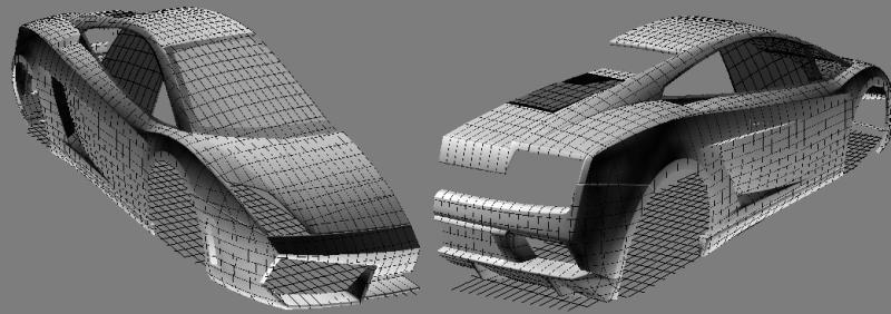 подробные чертежи кузова ламборджини мурселаго